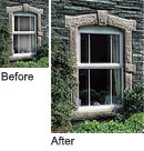 Window repairs before and after